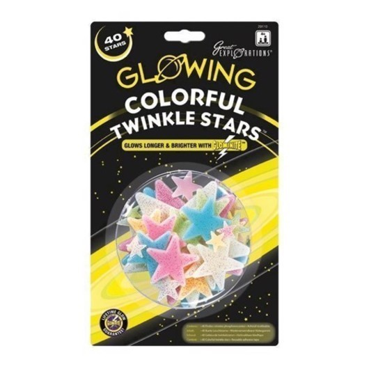 Glow in the Dark Twinkle Star color, 40 st