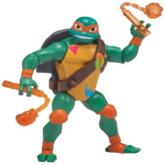 Rise of the teenage mutant ninja turtles battle shell action figure michelangelo