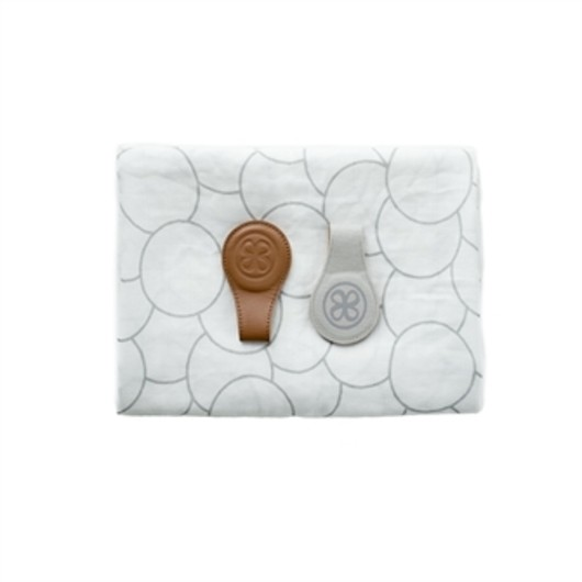 Cloby - Swaddle and Magnetic Leather Clips, Brown