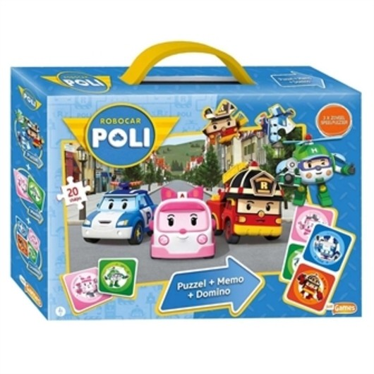 Robocar Poli - 3in1 Games box