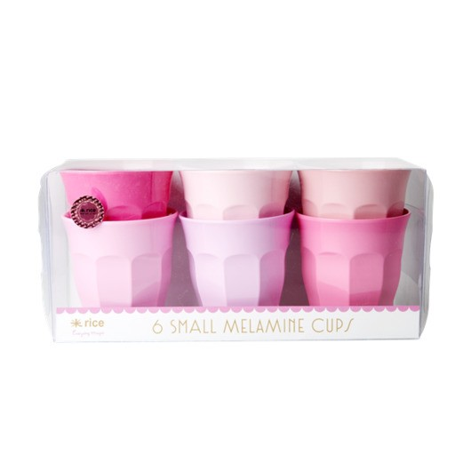 Rice - Melamine Cups 6 Pcs Small - 50 Shades of Pink