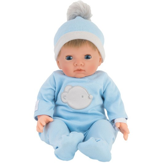 Tiny Treasure - Doll w/ Blond Hair & Blue Bear Outfit (30139)