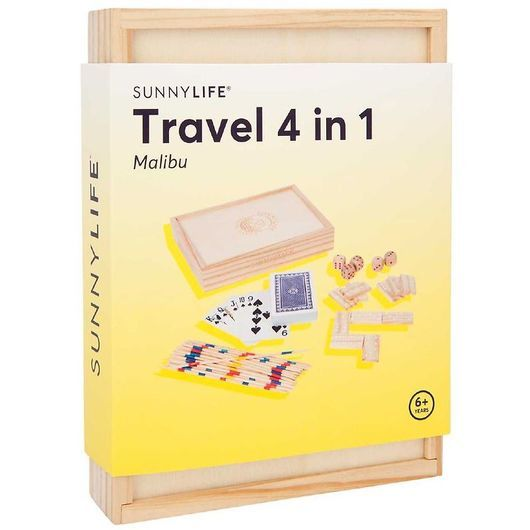 SunnyLife Spelset - Travel 4 in 1 - Malibu