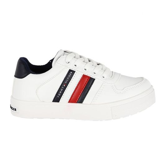Tommy Hilfiger Sneakers - Low Cut Lace-Up - Vit