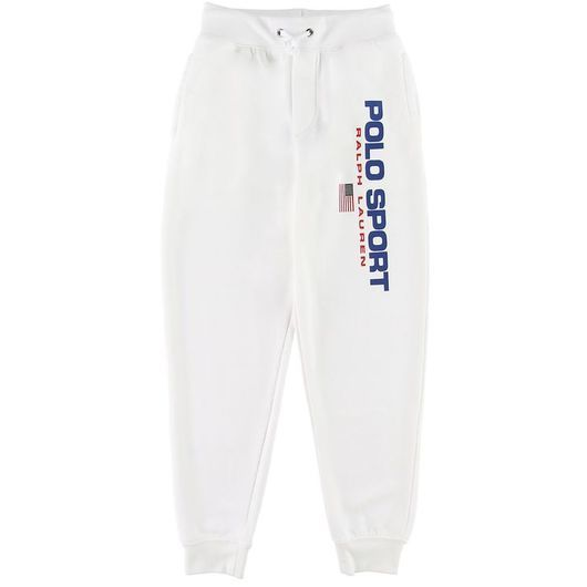 Polo Ralph Lauren Sweatpants - Vit m. Logo
