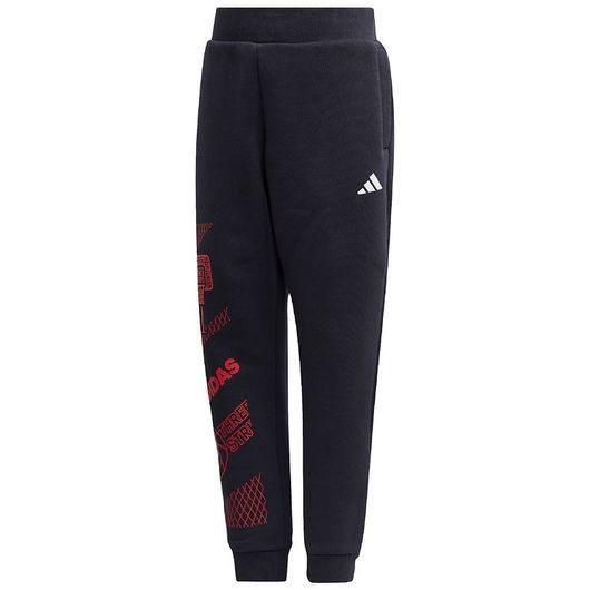 adidas Performance Sweatpants - Fleece - Marinblå m. Rött