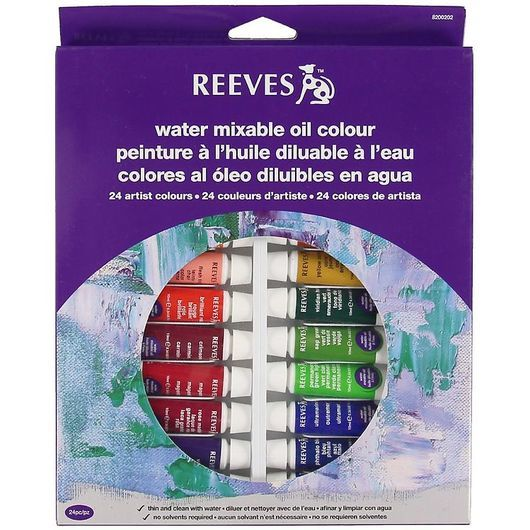 Reeves Oljefärg- Water Mixable - 24 st