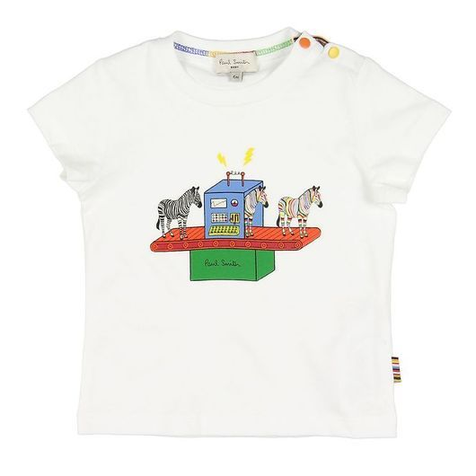 Paul Smith Baby T-shirt - Azou - Vit m. Zebra