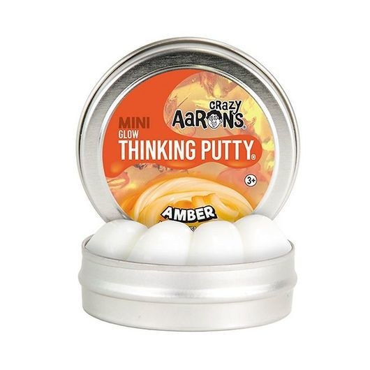 Crazy Aarons Putty Slim - Ø 5 cm - Mini Glow - Amber