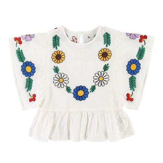 Stella McCartney Kids T-shirt - Vit m. Blommor