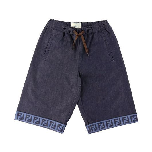 Fendi Shorts - Navy m. Logo